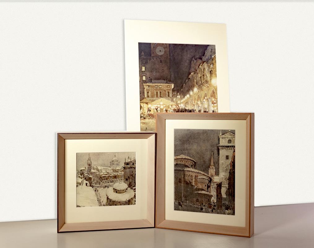 Acquerelli e litografie