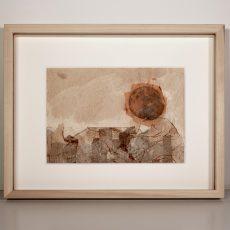 Cornice in ciliegio naturale (all'interno opera di Ida Tampellini)